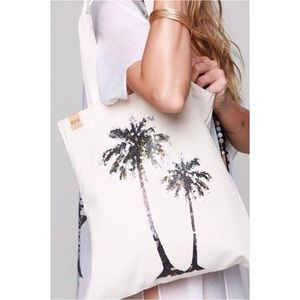 🆕Palm Tree Canvas Tote Bag